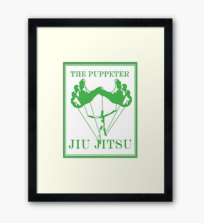 The Puppeteer Jiu Jitsu Green  Framed Print