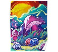 Jeweled Snail Trail Poster