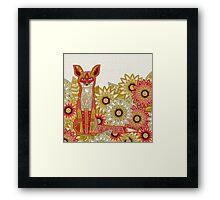 garden fox Framed Print