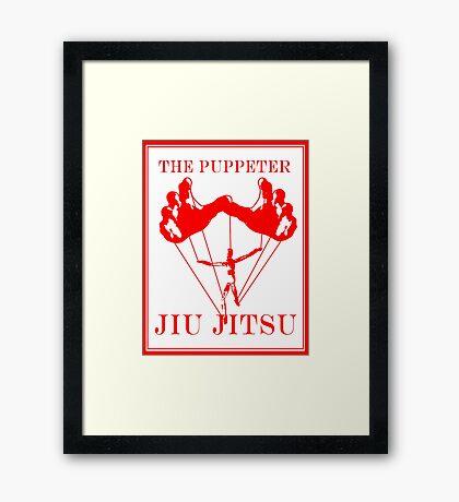 The Puppeteer Jiu Jitsu Red Framed Print