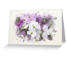 Wildflower Watercolor Art Greeting Card