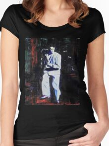 Portrait of David Byrne, Talking Heads Women's Fitted Scoop T-Shirt