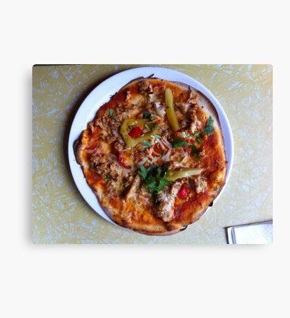 Pizza Verano Aves Canvas Print
