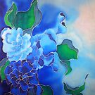 Blue Mushroom Floral by Angel Ray