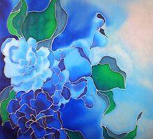 Blue Mushroom Floral by Angel Ray