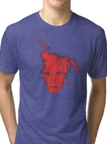 Andy Warhol Self Portrait (Red) Tri-blend T-Shirt