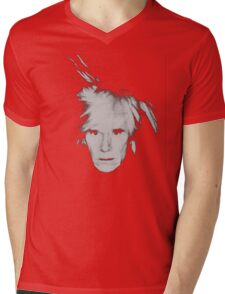 Andy Warhol Self Portrait Mens V-Neck T-Shirt