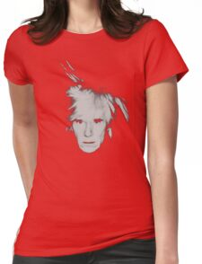 Andy Warhol Self Portrait Womens Fitted T-Shirt
