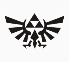 Zelda - Triforce (Black) Kids Tee