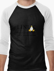 Linux Generation Men's Baseball ¾ T-Shirt