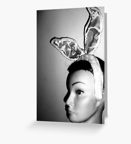 Mandy's Easter Bunny Mug-Shot Greeting Card
