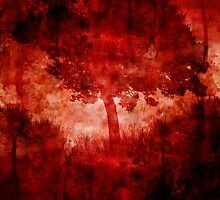 red tree  by potty
