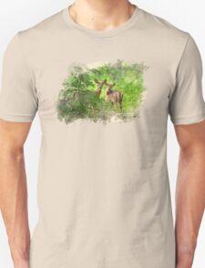 Deer Fawns Watercolor Art Unisex T-Shirt