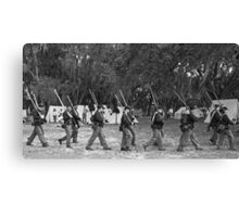 Returning from battle BW Canvas Print