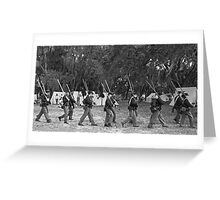 Returning from battle BW Greeting Card