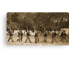 Returning from battle in sepia Canvas Print