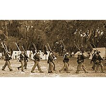 Returning from battle in sepia Photographic Print