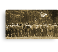 Skirmish line in sepia Canvas Print
