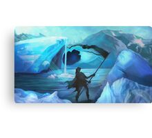 Explorer on the Ice Canvas Print