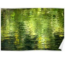 Green Water Abstract Poster