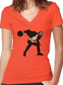 STRIKE! Women's Fitted V-Neck T-Shirt
