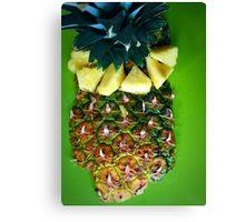 Pineapple Food Art Canvas Print