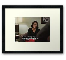 If men got pregnant Framed Print