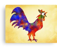 Red Rooster Art Canvas Print