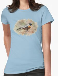 American Robin Watercolor Art T-Shirt