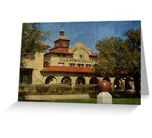 Historic Fort Worth Live Stock Building Greeting Card