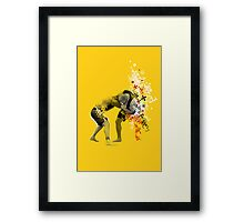NO GI GRAPPLING POSTER Framed Print