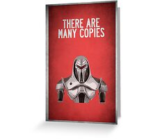 There are many copies Greeting Card