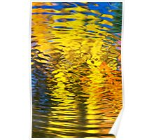 Gold Waves Abstract Poster