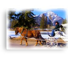 Romantic ride - Digital Art Canvas Print