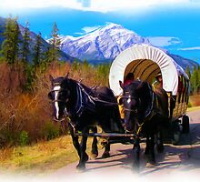 Modern Chuckwagon - Digital Art by JamesA1