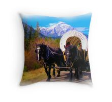Modern Chuckwagon - Digital Art Throw Pillow