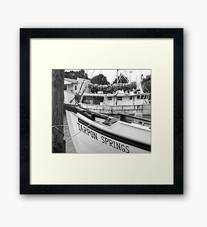 At the Sponge Docks Framed Print