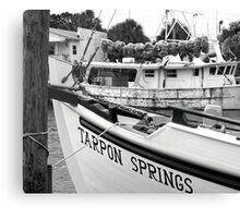 At the Sponge Docks Canvas Print