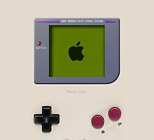 Classic old vintage Retro white milk gameboy gamewatch by Galih Sanjaya Kusuma wiwaha
