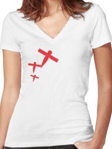 Paper Birds Women's Fitted V-Neck T-Shirt