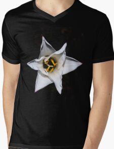 White morning wildflower emblem hoodie or tee Mens V-Neck T-Shirt