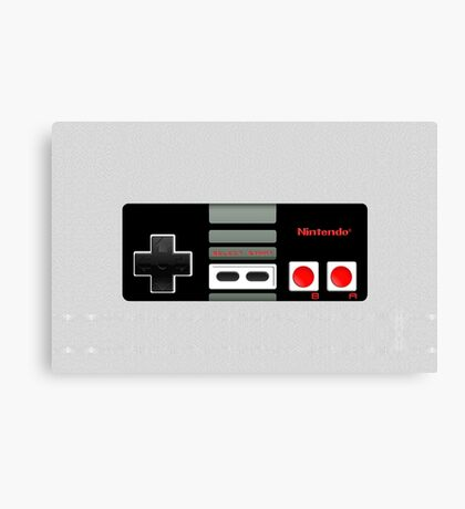 Classic old vintage Retro game controller Canvas Print