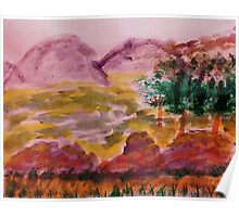 From Forest into Meadow, watercolor Poster