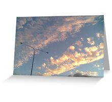 Sky Sunsetting Clouds Greeting Card