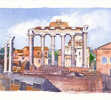 The Forum, Rome by Dai Wynn
