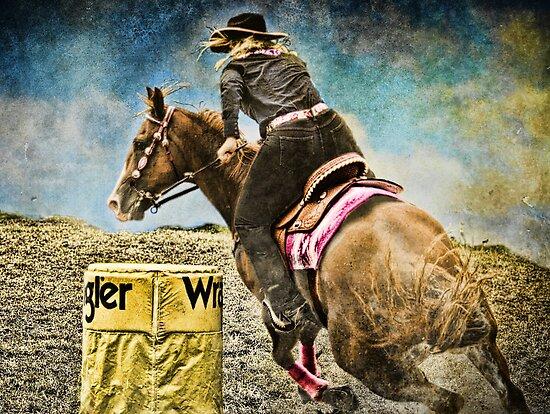Running the Cans - Holly & Kakadu by WesternArt