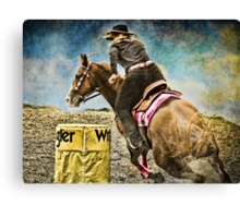 Running the Cans - Holly & Kakadu Canvas Print