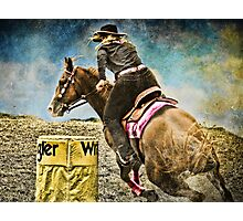 Running the Cans - Holly & Kakadu Photographic Print