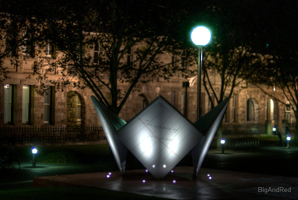 'Folded paper' artwork by night by BigAndRed