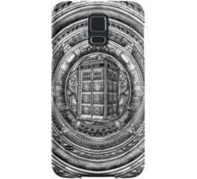Aztec Time Lord Black and white Pencils sketch Art Samsung Galaxy Case/Skin